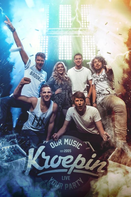 Koningsnachtfeest met coverband Kroepin